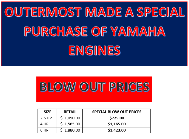 Yamaha Blow Out Sale