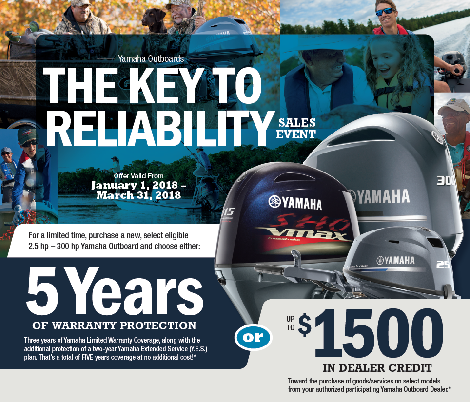 Yamaha Key to Reliability Sales Event 2018