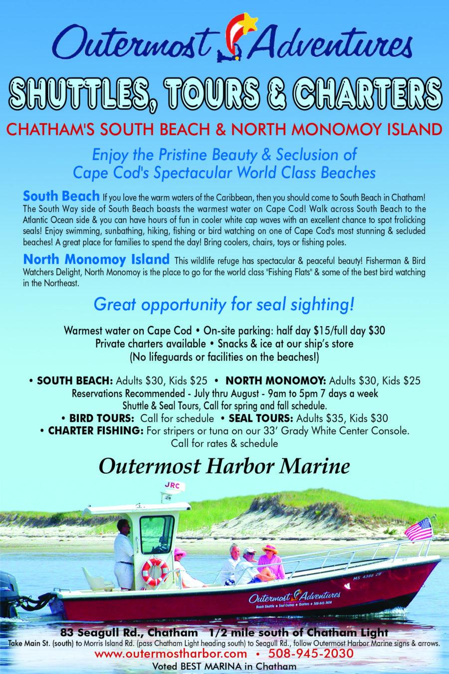 87a9d5a037e Beach Shuttle- Outermost Harbor Marine