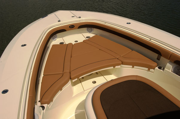 Sea Ray Boat >> Scout-350LXF-bow-filler-cushion - Outermost Harbor Marine